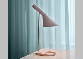 AJ Mini Table Lamp ... in the new Pale Rose colour.