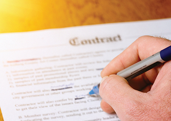 A complex web of contracts supports any commercial construction project.