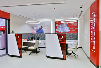 Work for all NBB branches included mill works for all display units, signages, digital signage, furniture and fixtures with complete civil, MEP and finishing works.