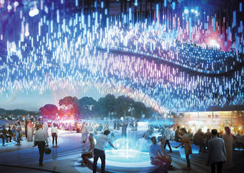 Expo Pavilion concept ... removing barriers to interaction allows spaces to flow and movement to be fluid and relaxed.