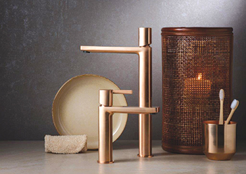 Brushed Rose Gold ... one of the six new finishes from Ritmonio.