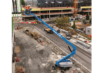 The boom lift ... right-sized for completing work-at-height applications.