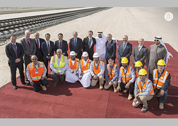 Construction work on Package A of Etihad Rail was launched in January this year.