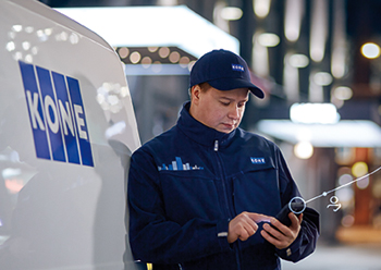 Kone 24/7 Connected Services enables faults to be predicted before they happen.