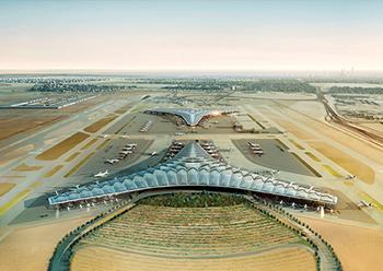 The new terminal at Kuwait International Airport ... work well under way.
