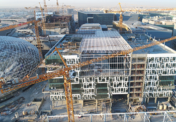Work is in progress at a key campus of Kuwait University.