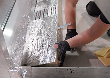 Slab edge fire stop ... firestopping is part of effective compartmentation.