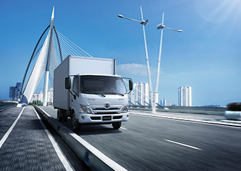The new Hino 300 Series includes cutting-edge features such as an Emergency Guard Impact Safety (EGIS) cab and SRS airbags for drivers and passengers.