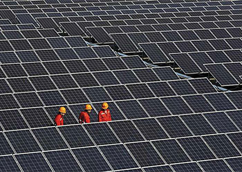 The $400-million solar power plant aims to generate 1,300 GWh of power annually.