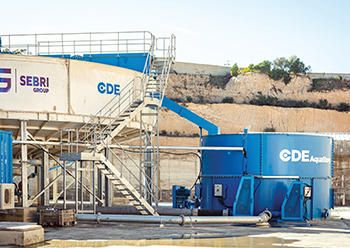 CDE's equipment at Somevam's quarries helped achieve the quality of sand required.