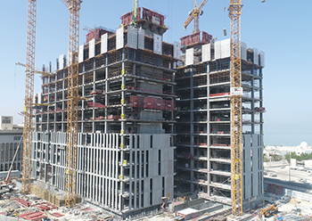 Structural works on the Justice of Palace project are almost 70 per cent complete.