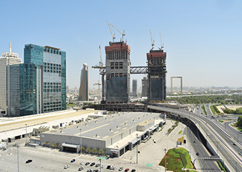 The Link connects the two towers of One Za'abeel 100 m above ground level.