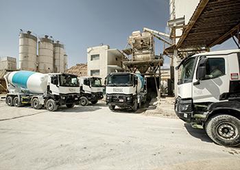 The K model trucks ... new addition to Ocean Readymix's fleet.