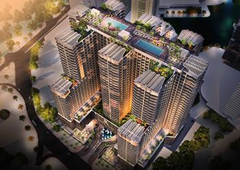 The Seven City JLT development at Jumeirah Lake Towers.