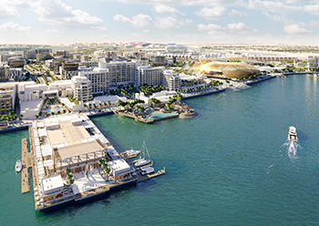 Yas Bay encompasses three distinct areas: The Waterfront, The Residences and twofour54.