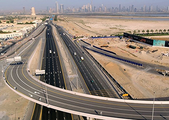 Work has been completed on the majority of the roads and transport projects for Expo 2020.