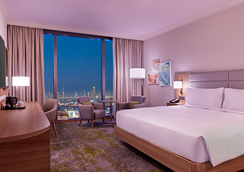 The guestrooms and suites have a contemporary feel with clean lines and fresh interiors.