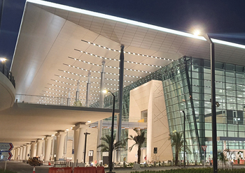 The new terminal which was completed last year at Bahrain International Airport.