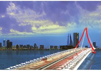 The fourth Manama-Muharraq Crossing ... dredging works in progress.