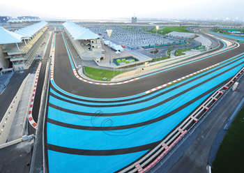 Yas Marina track in Abu Dhabi ... highly challenging given the volume of work involved.