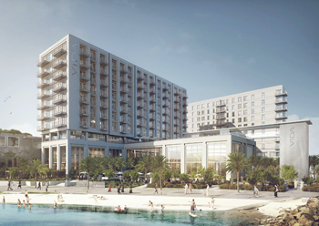 The Vida and Address waterfront hotels will each have a 300-room capacity.