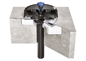 Geberit Pluvia roof outlet ... suitable for almost all installation situations.