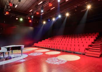 The theatre ... a black box drama performance space.