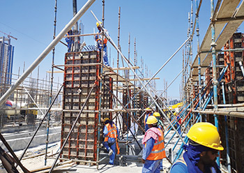 Paschal formwork in use for the Al Rabeeh Medical Centre project.