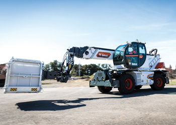 The new telehandlers are offered with a choice of over 20 attachments.