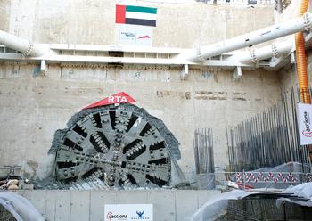 One of Acciona's TBMs used on the Dubai Metro project.