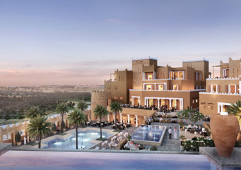 A Diriyah Gate resort ... combining Najdi architecture with contemporary living.