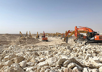 Infrastructure work under way at Qiddiya.