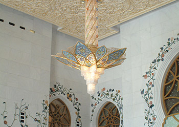 The chandeliers at Shaikh Zayed Grand Mosque ... unique.