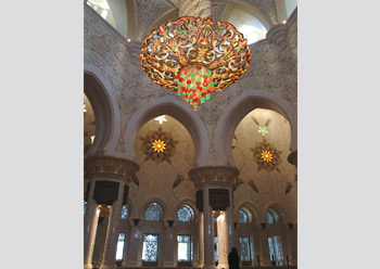 Shaikh Zayed Grand Mosque features seven chandeliers.