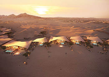 Southern Dunes hotel at the project ... one of the hotels designed by Foster + Partners.