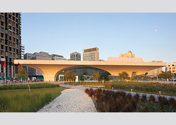 For the Doha Metro, BFG produced curved rainscreen cladding panels.