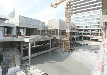All concrete works have been completed on the mixed-use development.
