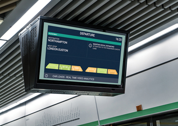 Diva provides guidance via platform displays that show which carriages of an approaching train are busy.