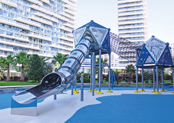 Mertoğlu playground equipment ... designed to cope with the region's environment.