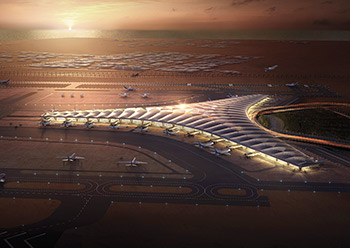 An artist's impression of the terminal.