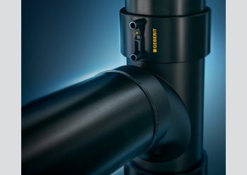 Geberit pipes are composed of high-density polyethylene (HDPE), which makes them particularly robust.