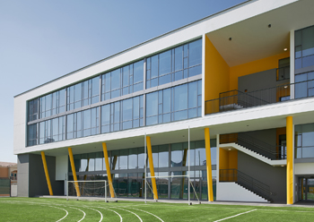 The school premises have a thermally-insulated building envelope with a highly reflective roof.