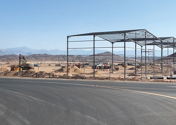 Campsites are in place and work is set to get off the ground on the initial developments.