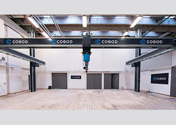 Cobod's printers consist of a gantry system.