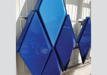 GFRP moulds were used to produce 6,000 geometric three-dimensional UHPC panels for the project.