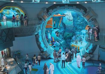 SeaWorld Abu Dhabi will feature the world's largest marine aquarium.