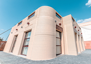 A Sharjah home in the SRTI Park, 3D printed in a traditional architecture style ... a project where CyBe was the technology partner.