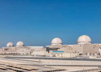 Barakah nuclear plant ... Unit One of the plant went onstream in April.