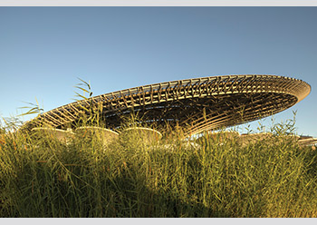 The Sustainability Pavilion ... designed to meet the highest environmental standards.