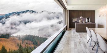 HIRT descending windows ... blurs the lines between indoors and outdoors.